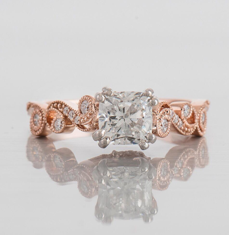 Blushing beauty engagement ring from @shanco
