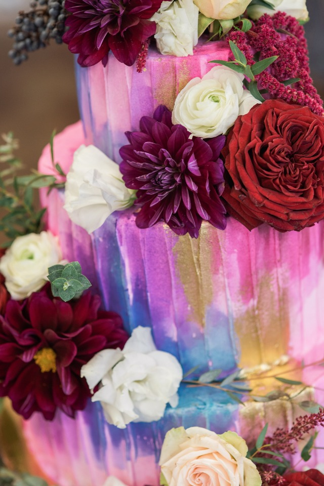 paint wash wedding cake
