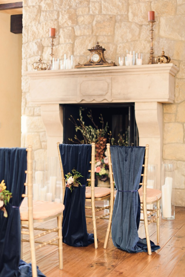 Beautifully styled ceremony space