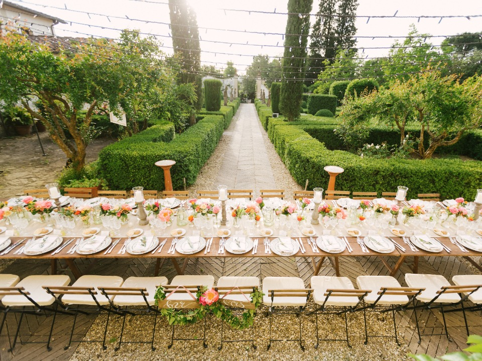 Garden Villa wedding in Florence