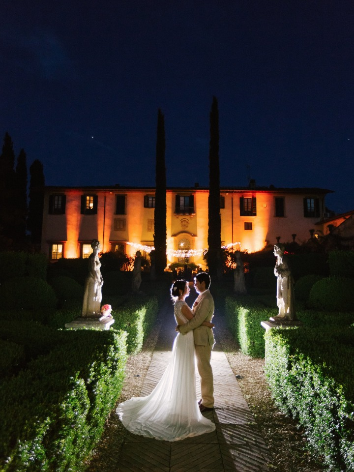 Beautiful garden villa wedding