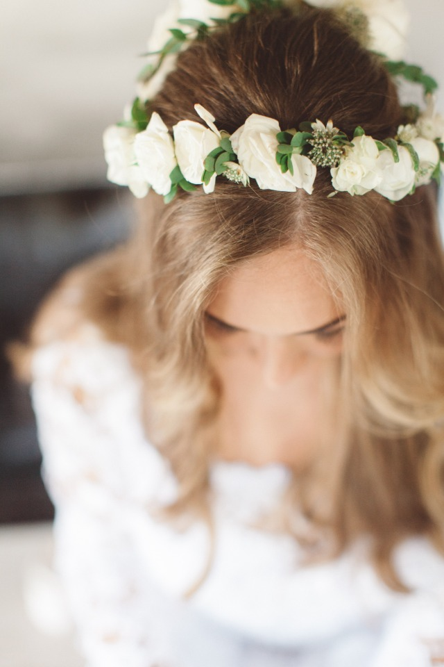 boho bride flower crown