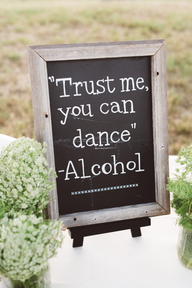 trust me you can dance wedding sign