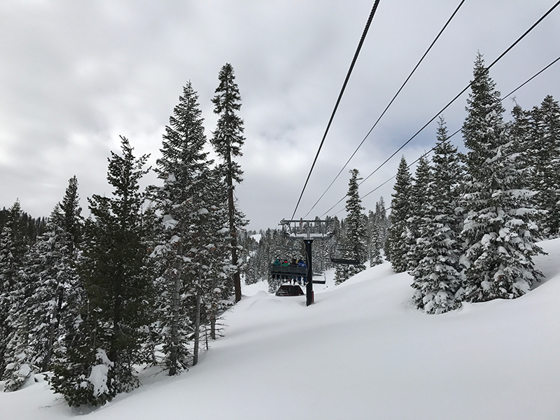 Skiing at the Ritz in Lake Tahoe