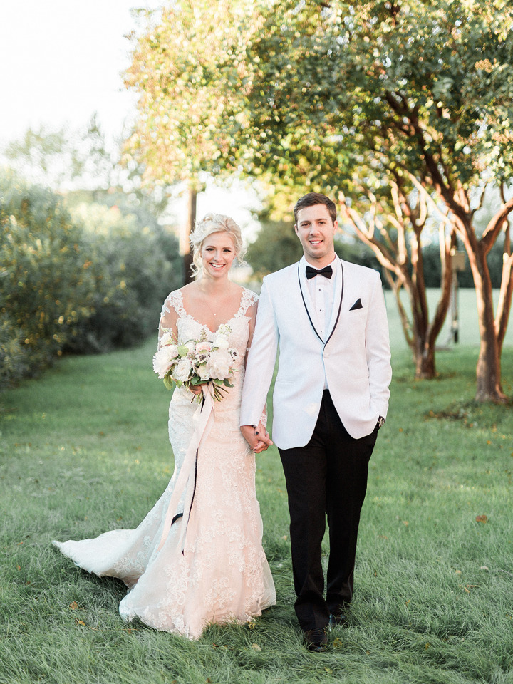 Timeless Elegance Texas Wedding In Shades Of Black, White, And Blush