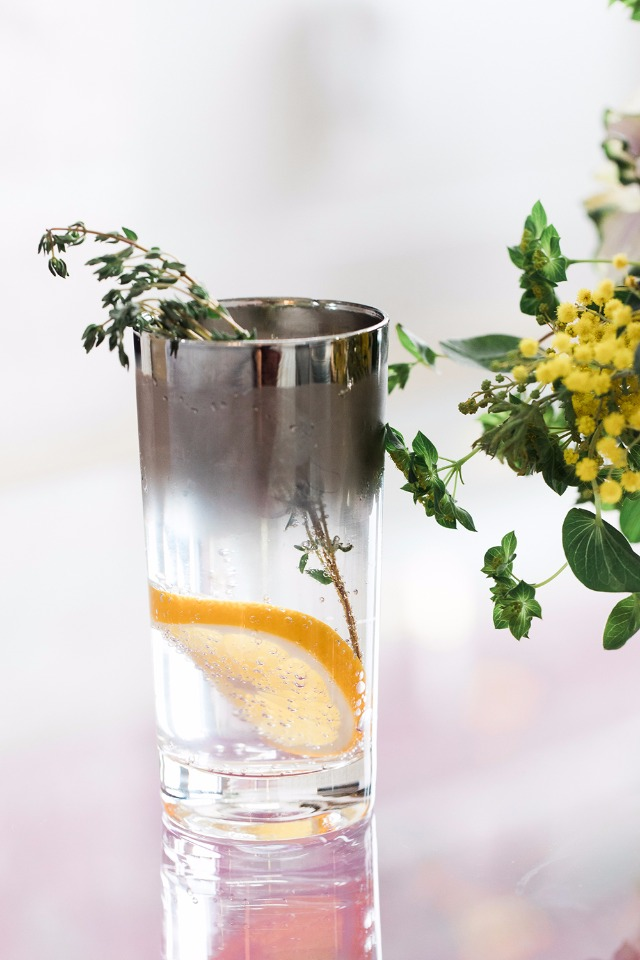 thympe and lemon spritzer