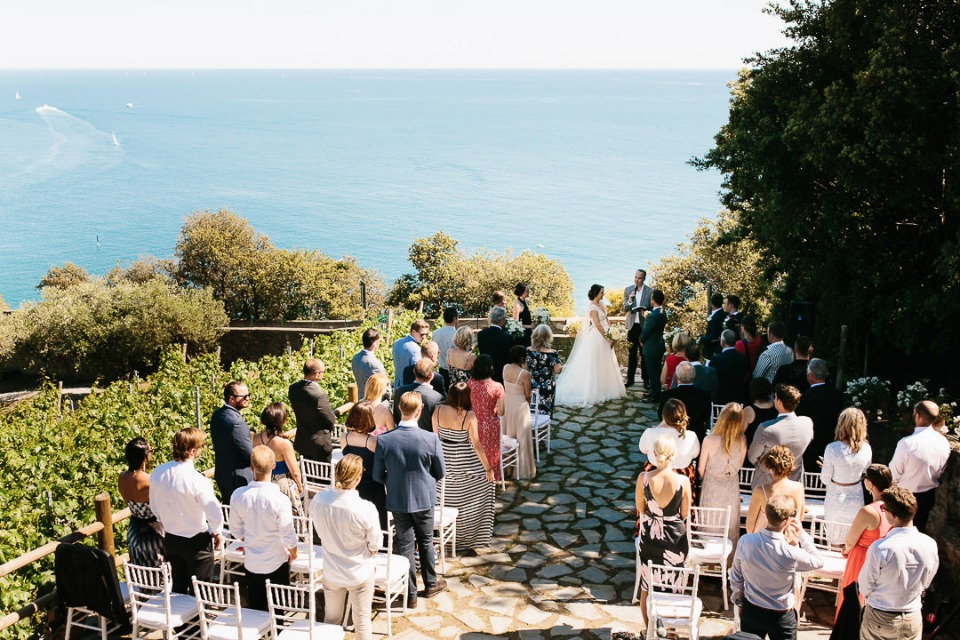 Ocean view terrace wedding