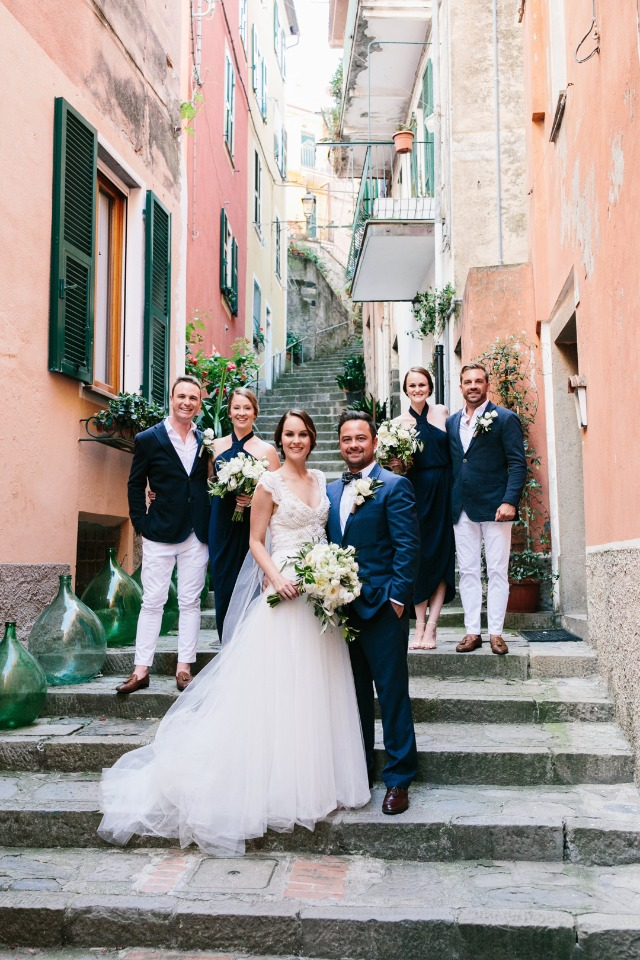 Natural rustic destination wedding in Italy