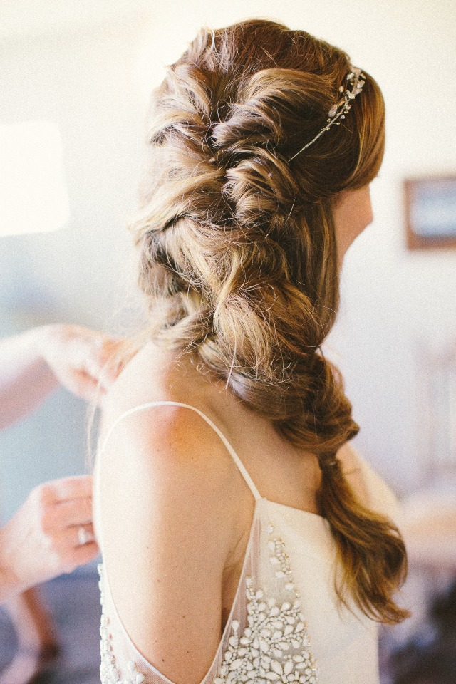 side braid for the bride