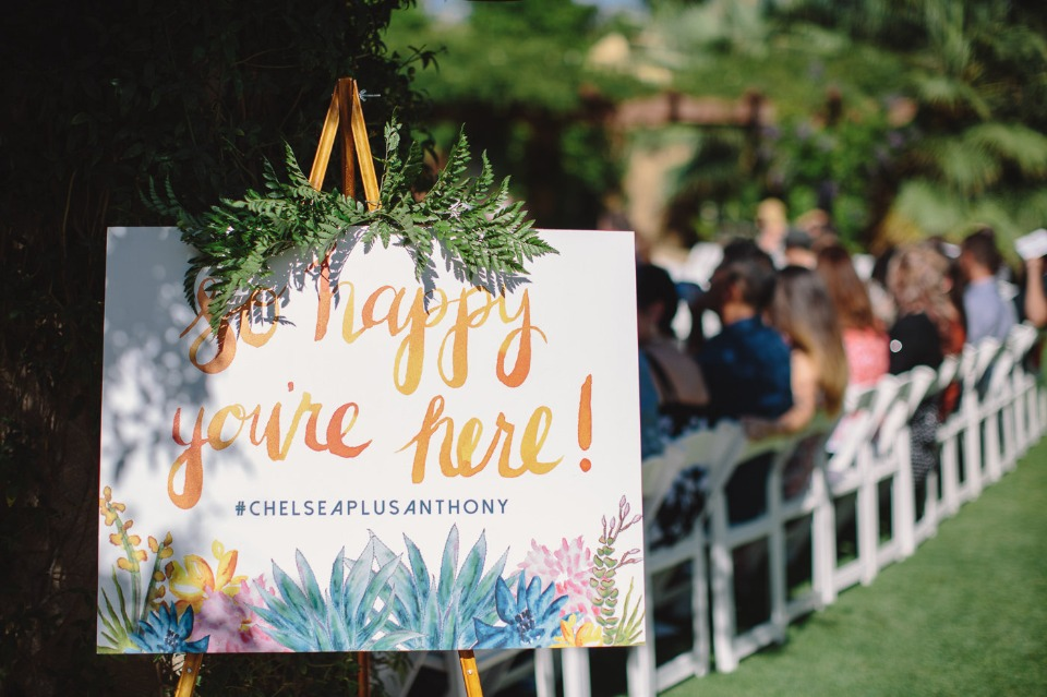 Do it yourself watercolor wedding sign