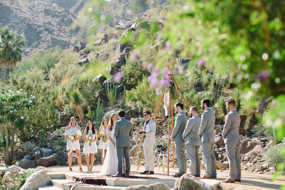 desert wedding ceremony idea