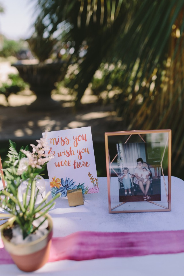 miss you and wish you were here table