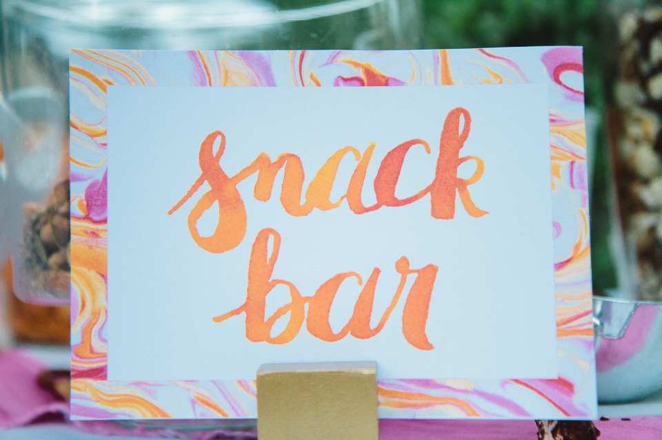 watercolor snack bar