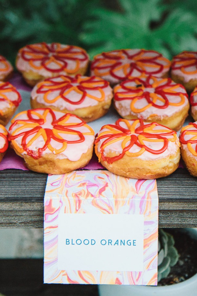 blood orange wedding donuts