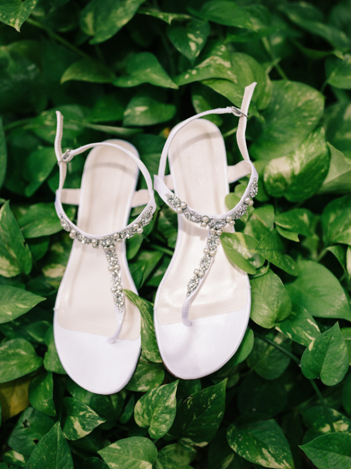 crystal and pearl wedding shoes