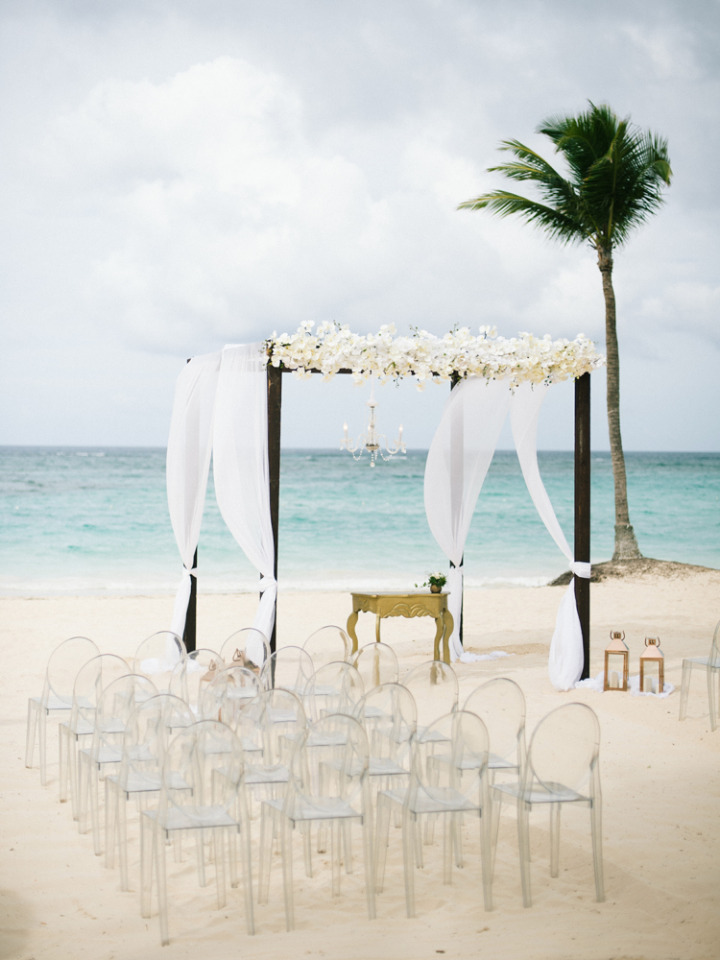 beautiful beach wedding ceremony in Punta Cana