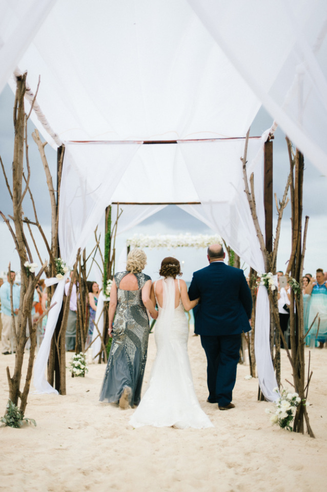 beautiful covered wedding ceremony walkway