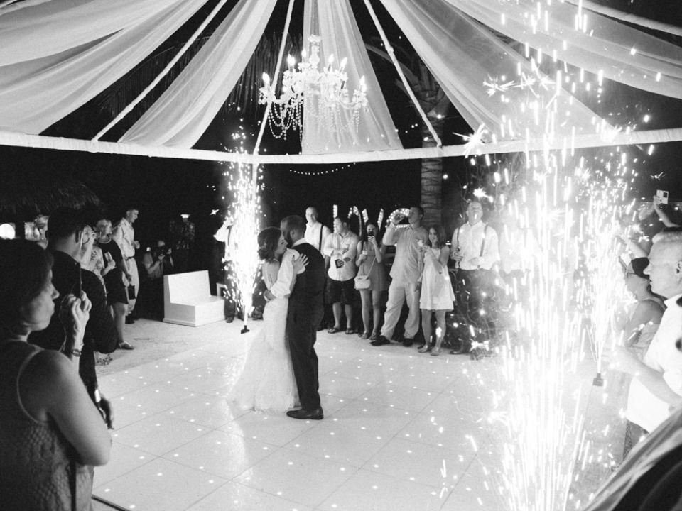 firework wedding first dance