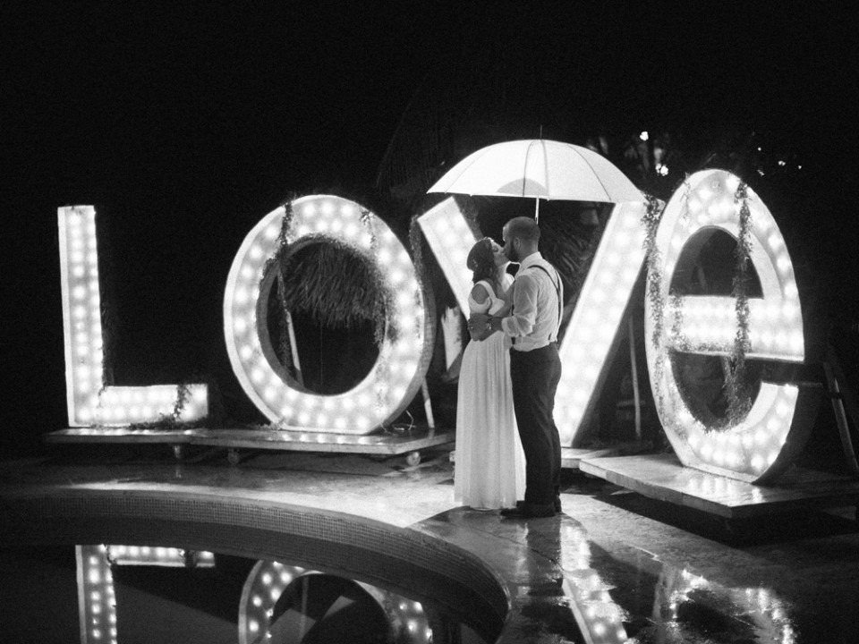 love marquee wedding sign
