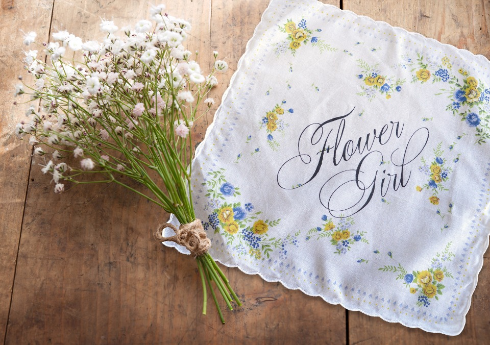 flower girl hankie