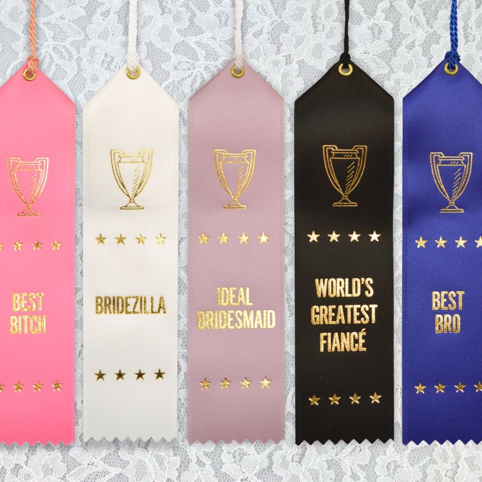 wedding party ribbons