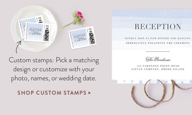 Custom stamps are the perfect finishing touch to your wedding invites from @minted