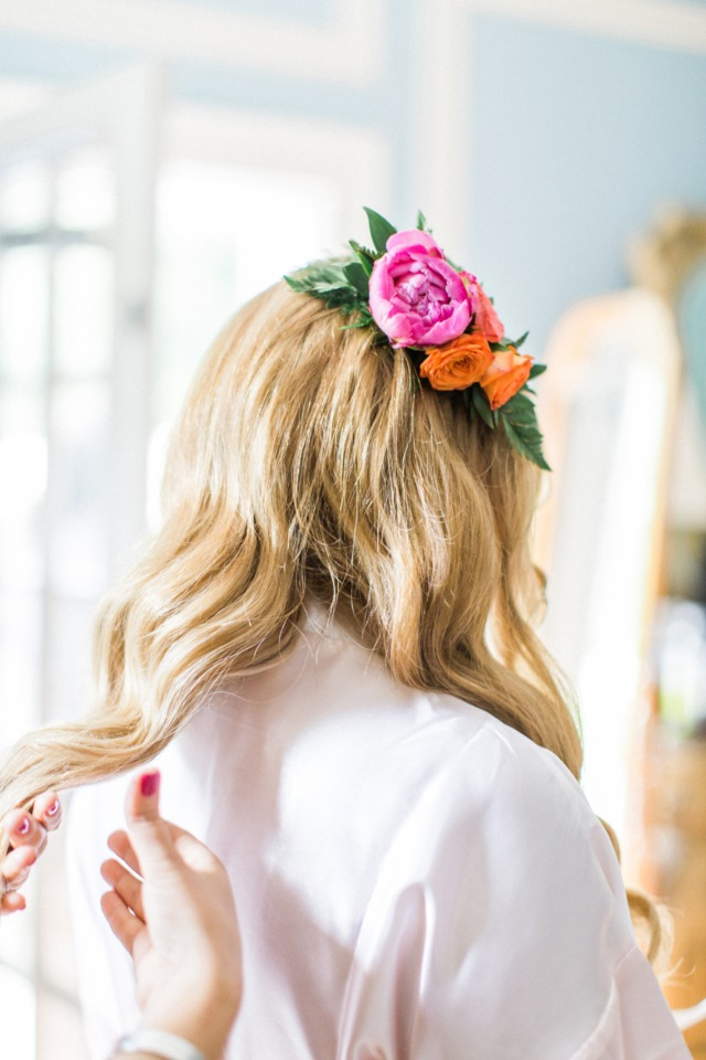 flower hair adornments for the Bride