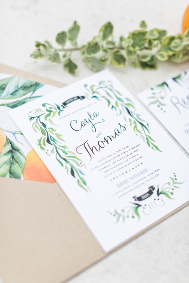 organic themed wedding invitations