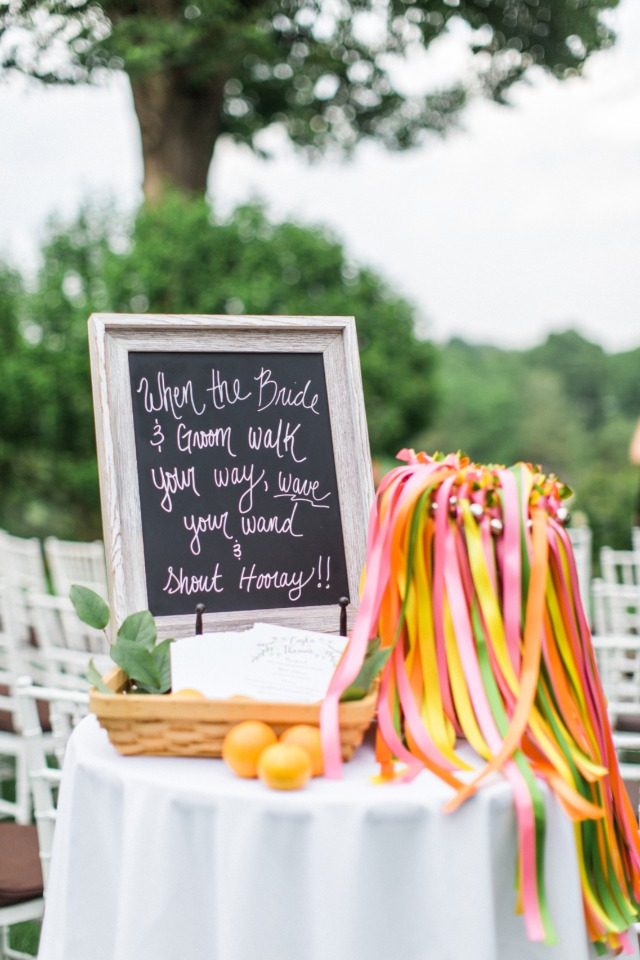 wedding streamer table