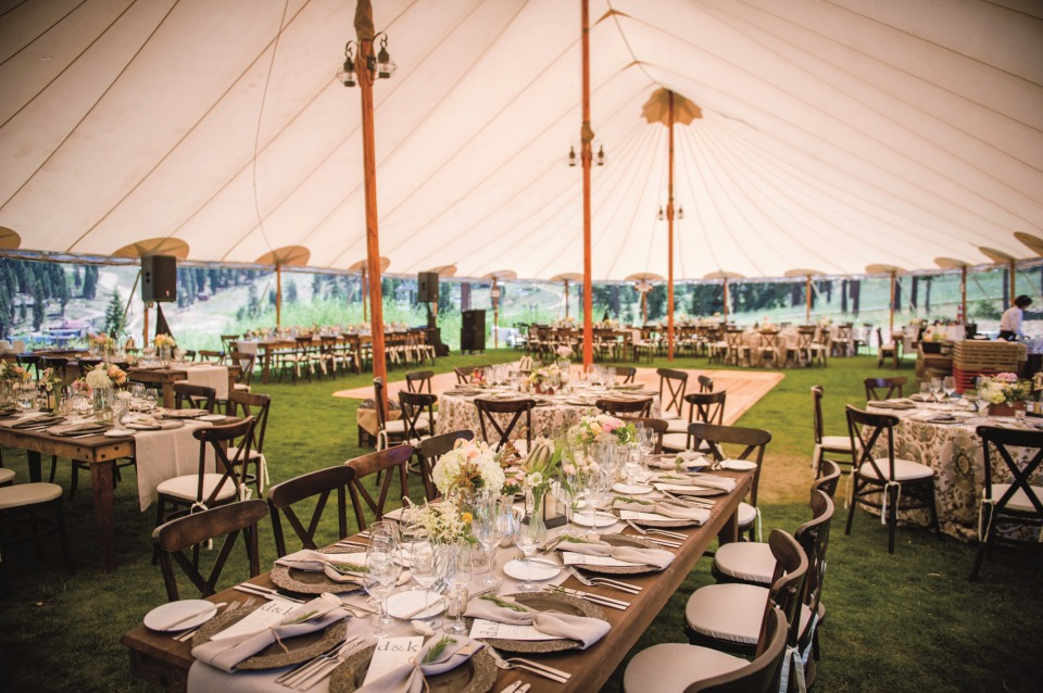tent summer wedding venue at The Ritz-Carlton, Lake Tahoe