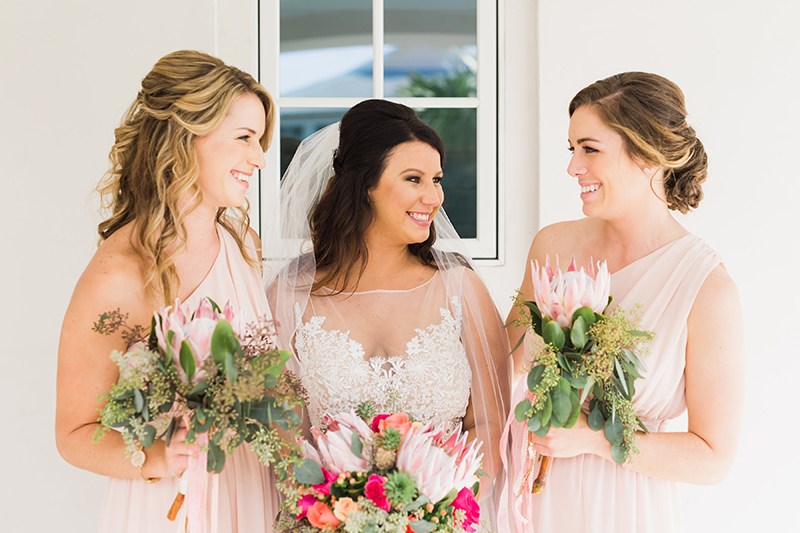 pink protea bridesmaids ideas