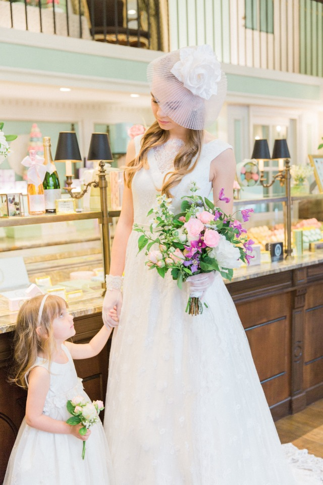 mother daughter bride and flower girl
