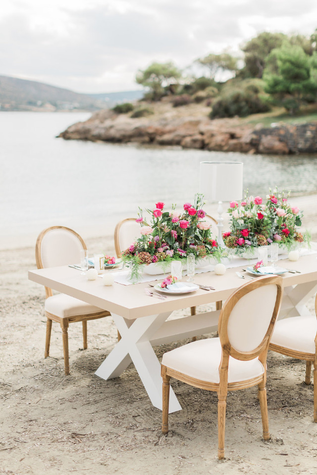 destination wedding reception on the beach
