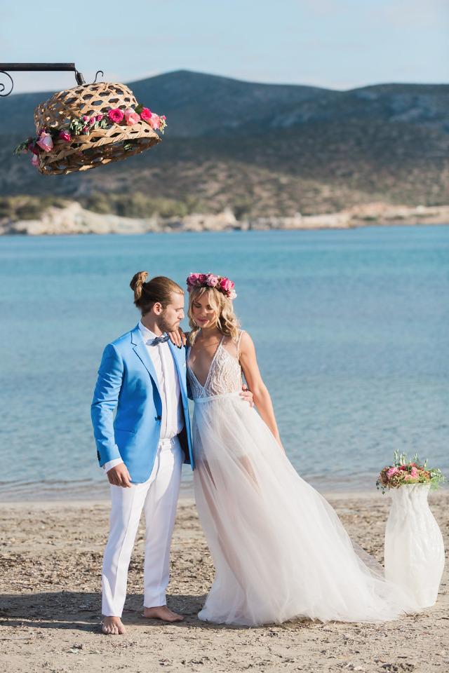 beach wedding ceremony for a destination wedding