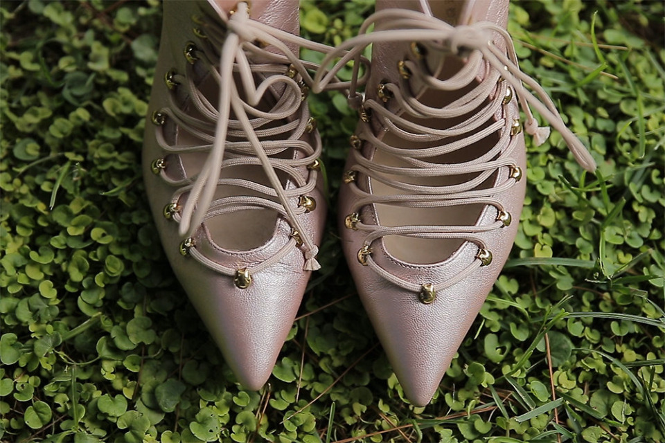 handwade lace up wedding shoes from KOKO