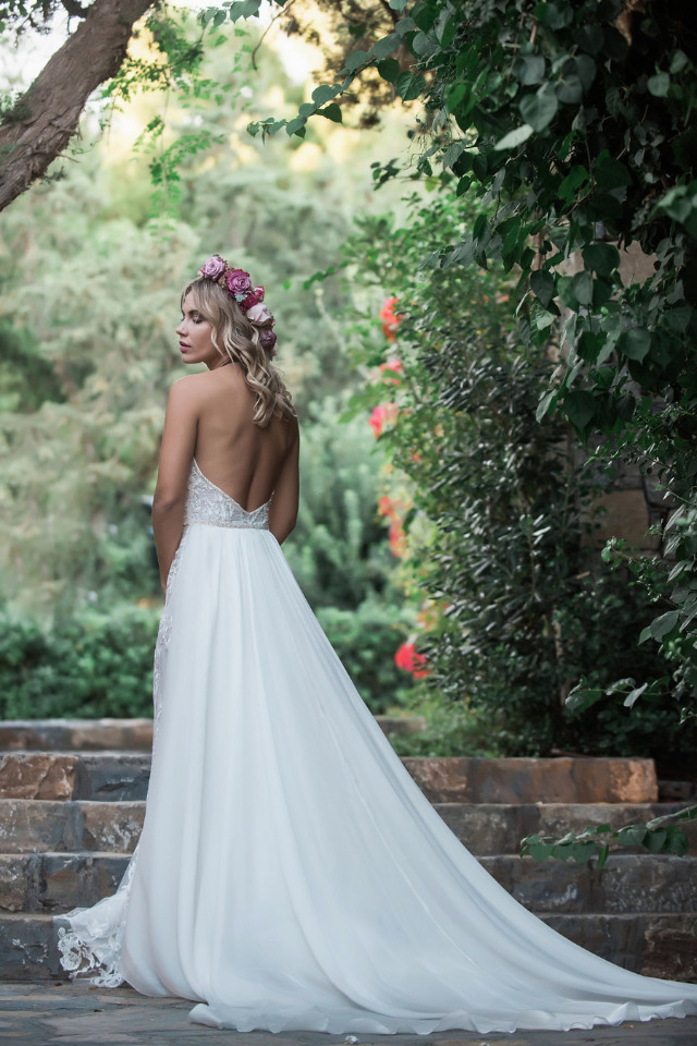 gorgeous wedding dress with low cut back