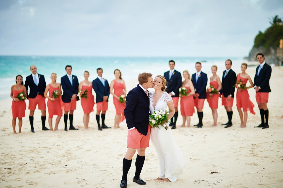 beach wedding at Coral Beach Club