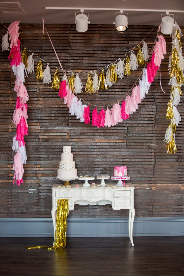 tassle cake table decor