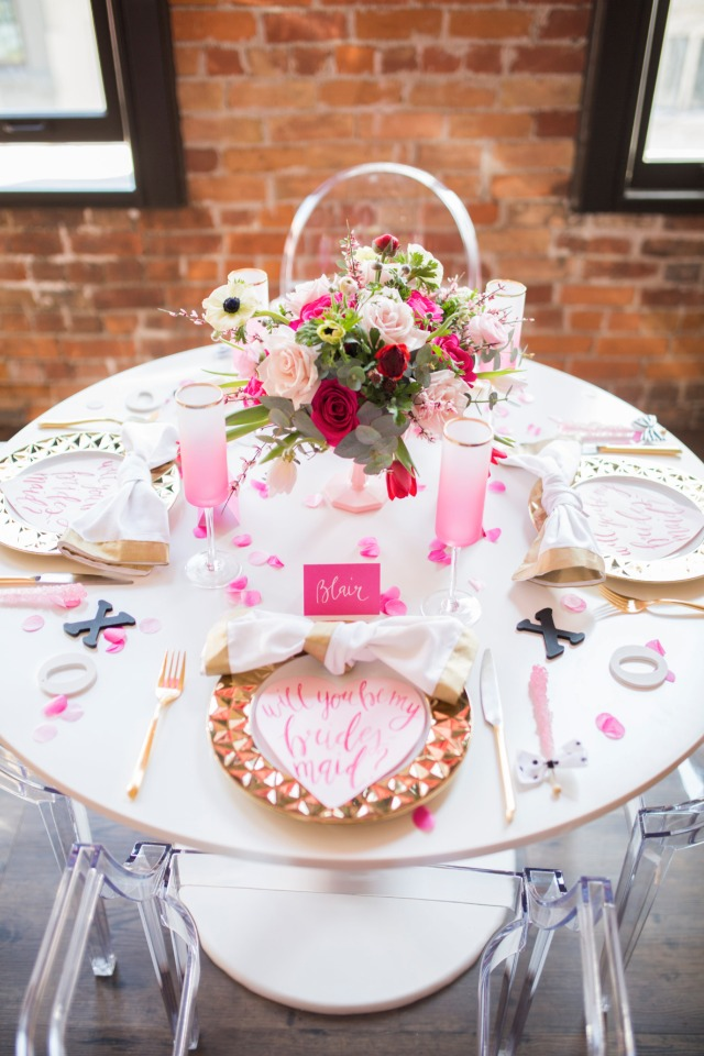 table decor for your bridesmaid party