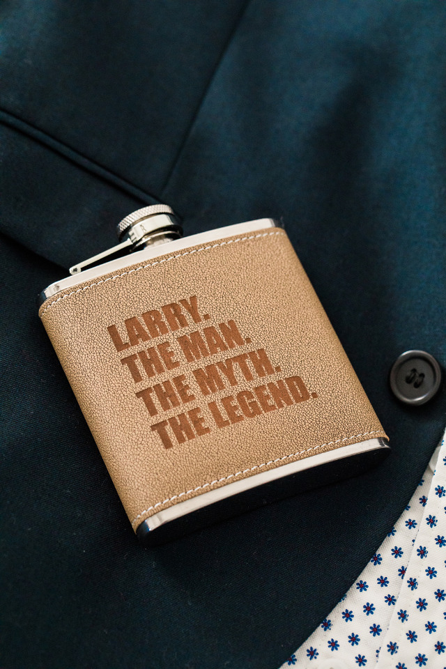 Groomsmen gift idea - An ultra stylish personalized flask.