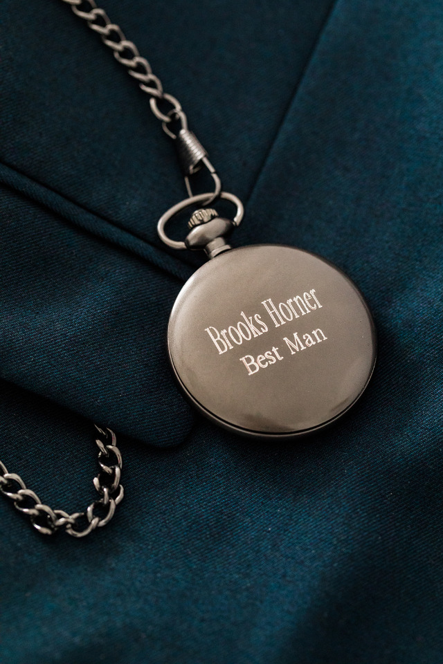 personalized pocket watch- fantastic gift for The Best Man