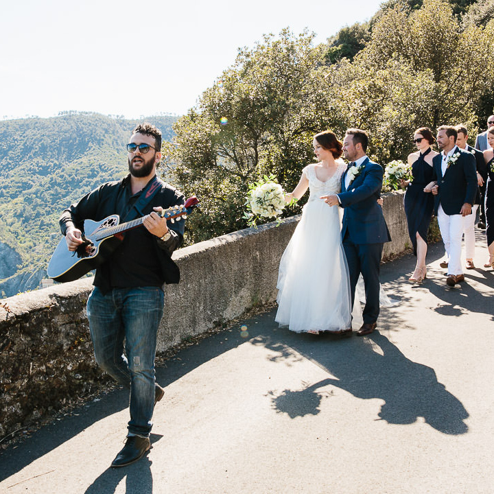 Get married in Italy and have a wedding parade through town