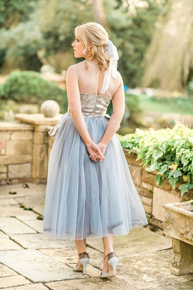 Beautiful blue tulle dress