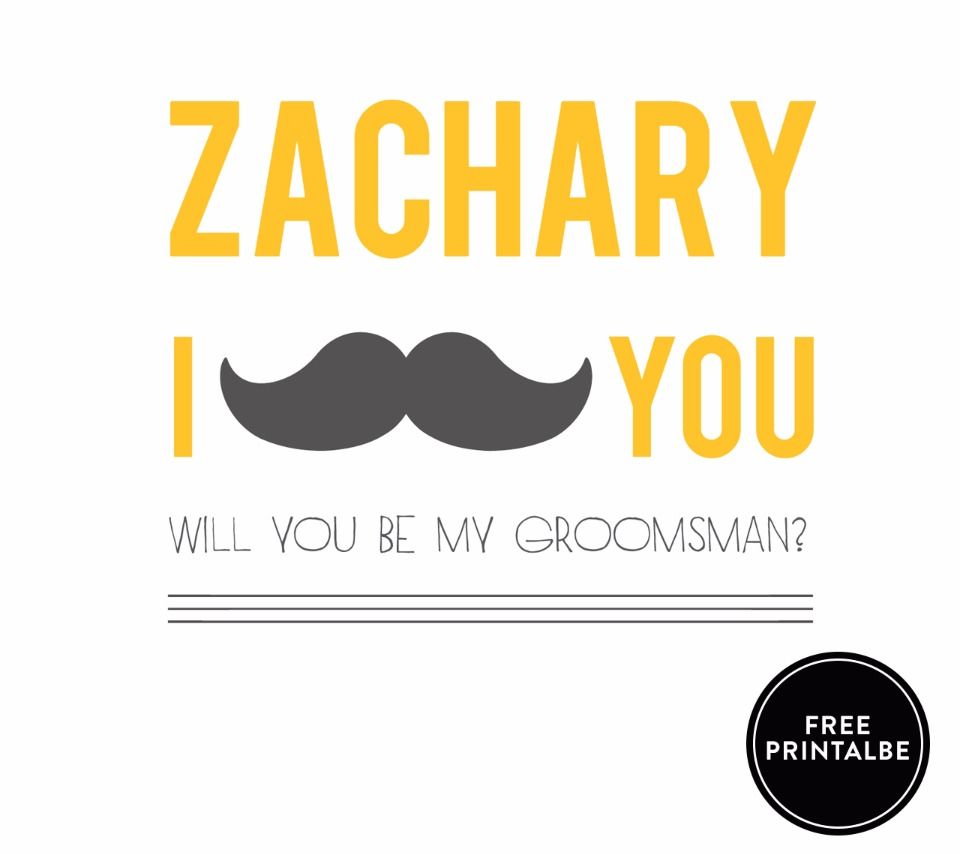 FREE will you be my groomsman printable