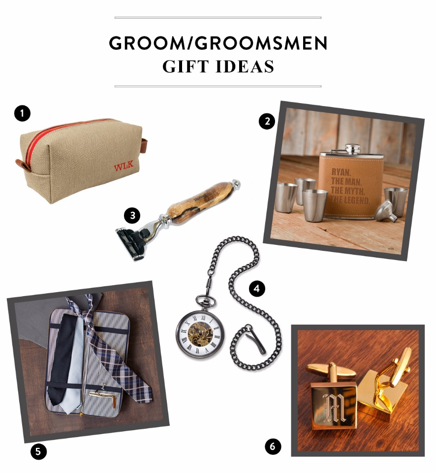 Gift ideas for the Groom / Groomsmen while they get ready for the wedding
