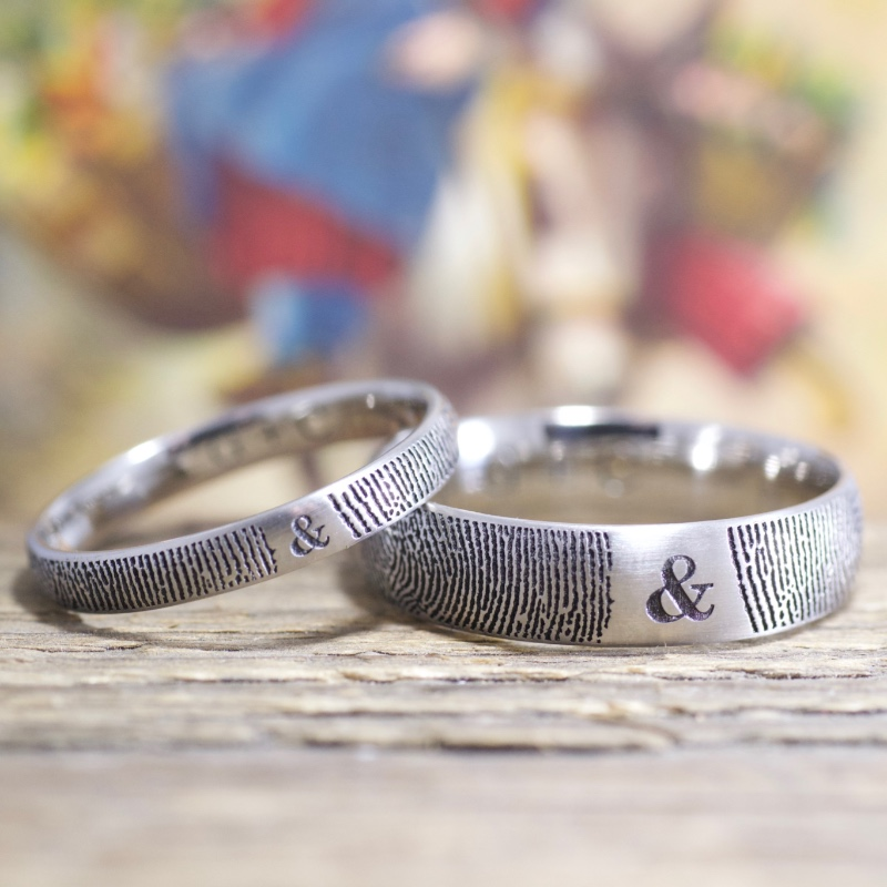 You&Me! Your fingerprints on your wedding rings!