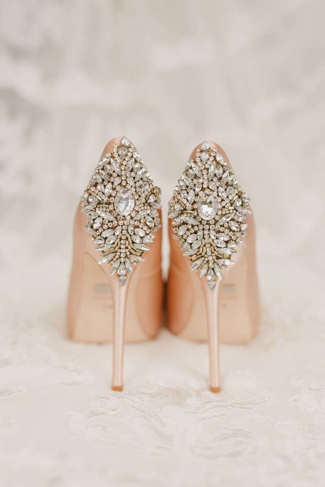 Add some sparkle with these heels from Badgley Mischka