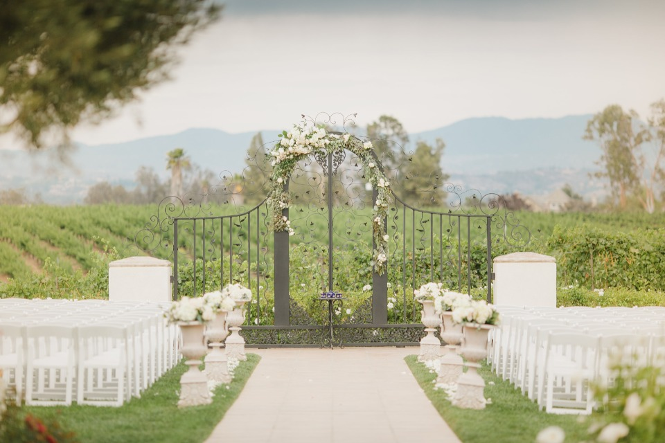 Iron gate ceremony arch