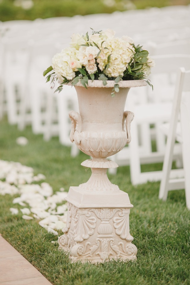 Pretty aisle decor