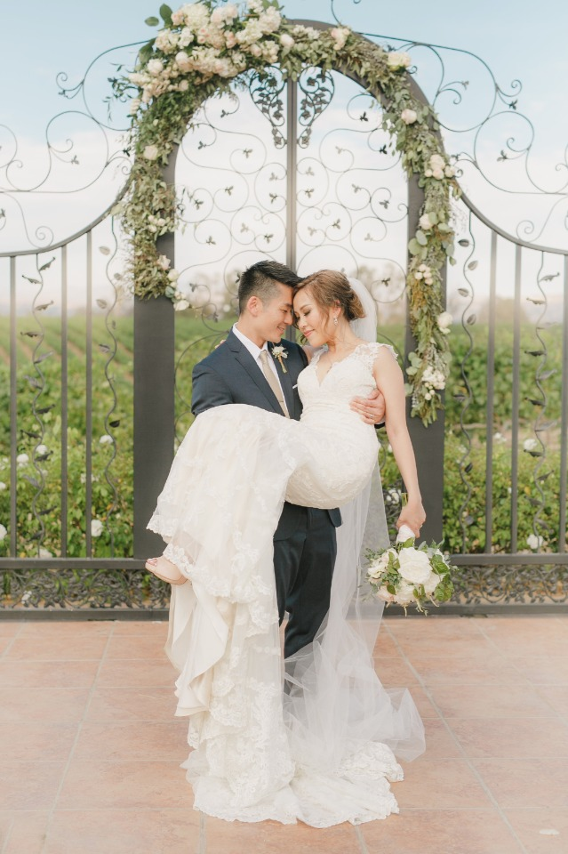 Fairytale vineyard wedding